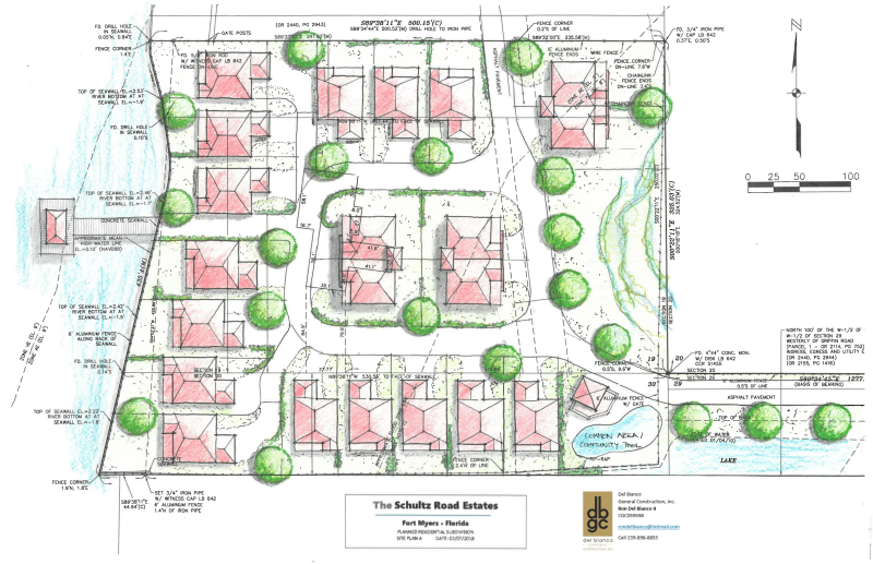 21 Lot Subdivision - Schultz Road Estates Plan A - Title Box and Del Bianco-1